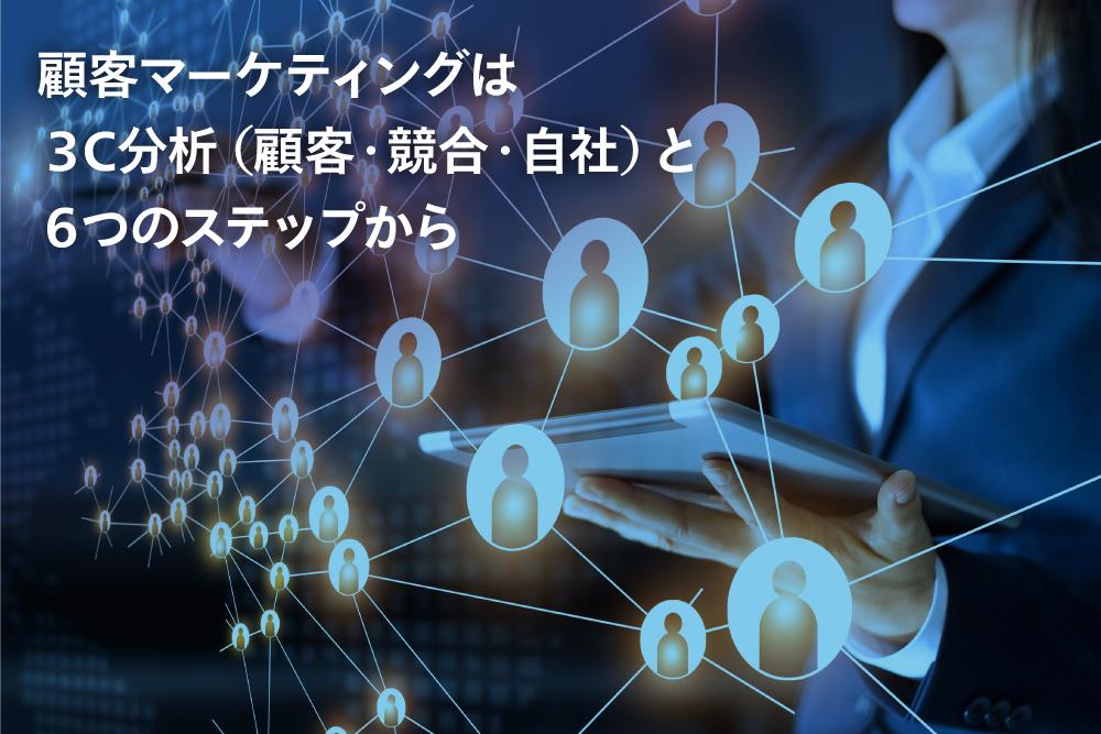 顧客マーケティングは3C分析(顧客・競合・自社)と6つのステップから
